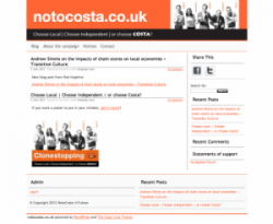 notocosta.co.uk website design